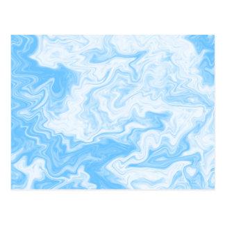 Pastel Blue Random Design. Post Cards
