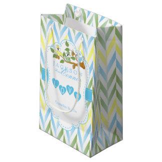 Pastel Blue Squirrel Design Sm - Baby Boy Shower Small Gift Bag