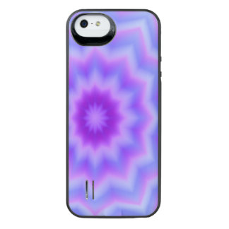 Pastel Blue Star Flower iPhone SE/5/5s Battery Case