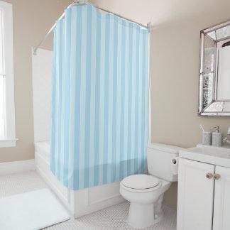 Pastel Blue Striped Shower Curtain