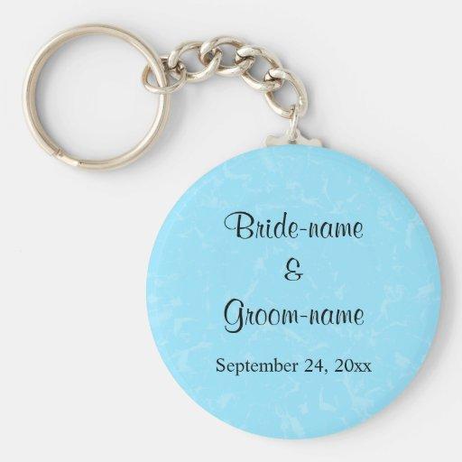 Pastel Blue Subtle Abstract Background Wedding Keychains