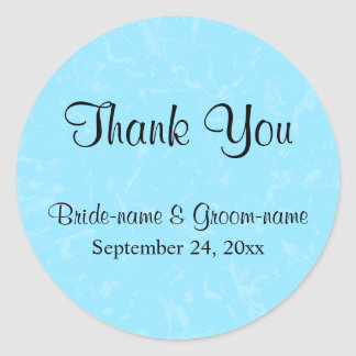 Pastel Blue Subtle Abstract Background Wedding Round Sticker