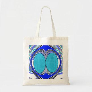 Pastel blue superfly design bag