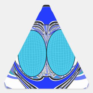 Pastel blue superfly design sticker