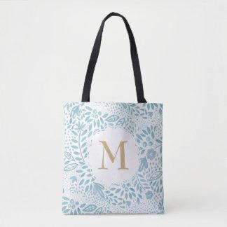 Pastel Blue Watercolour Personalised Tote Bag