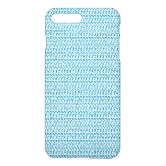 Pastel Blue Weave Mesh Look iPhone 7 Plus Case