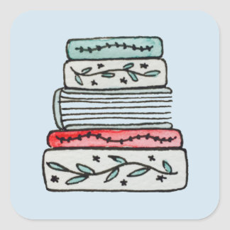 Pastel Book Stack Stickers