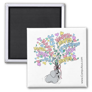 PASTEL BOUQUET OF GOOD WISHES Magnet