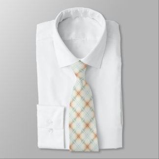 Pastel Brown And Blue Retro Pattern Tie