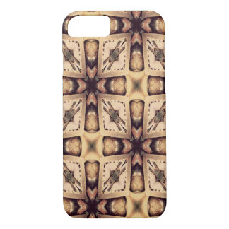 Pastel Brown Geometric Shapes Pattern iPhone 8/7 Case