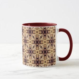 Pastel Brown Geometric Shapes Pattern Mug
