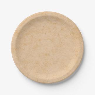 Pastel Brown Marble Paper Plate