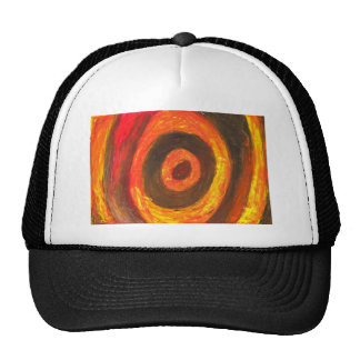 Pastel Bull's Eye (abstract expressionism) Trucker Hat