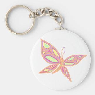 Pastel Butterfly key chain