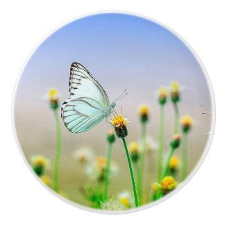 Pastel Butterfly on a Flower Knob