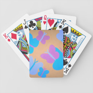 Pastel Butterfly Pattern Bicycle Playing Cards