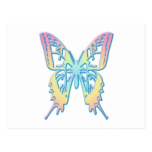 Pastel Butterfly Post Cards