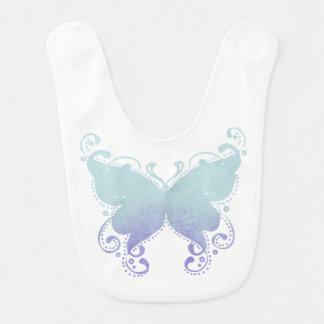 Pastel Butterfly Silhouette - Baby Bib