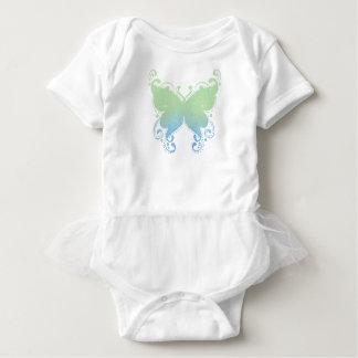 Pastel Butterfly Silhouette - Baby Tutu Bodysuit