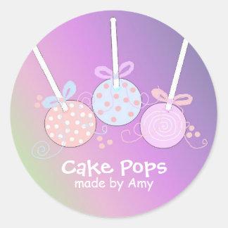 Pastel Cake Pops Classic Round Sticker