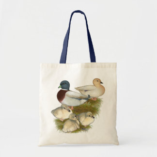 Pastel Call Duck Family Budget Tote Bag