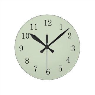 Pastel Camo Green Round (Medium) Wall Clock