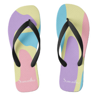 Pastel Camouflage Thongs
