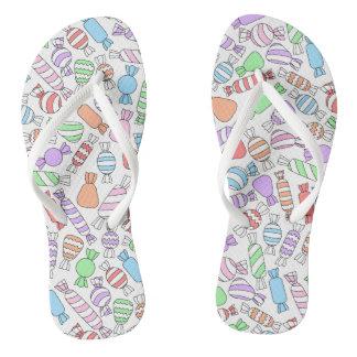 Pastel Candies Flip-flops Thongs
