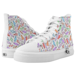Pastel Candies High Top Shoes Printed Shoes
