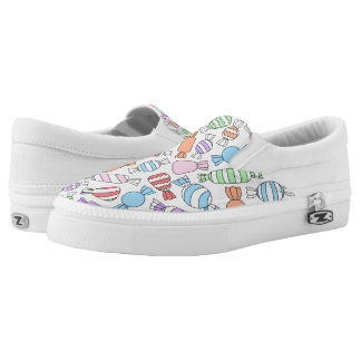 Pastel Candies Zipz Slip On Shoes Printed Shoes