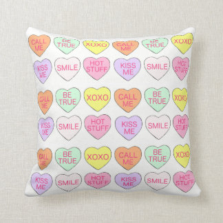 Pastel Candy Heart Hearts Valentine's Day Pillow