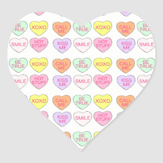 Pastel Candy Hearts Valentine's Day Heart Sticker