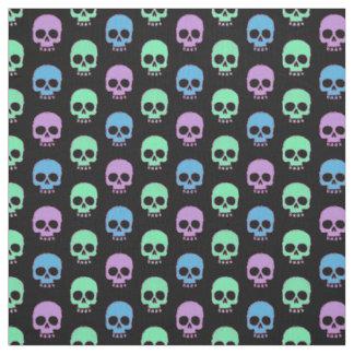 Pastel Candy Skulls Fabric
