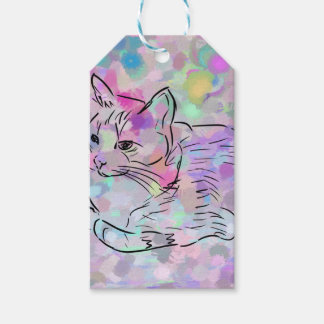 Pastel Cat Gift Tags