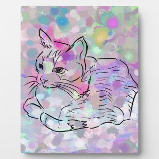 Pastel Cat Plaque