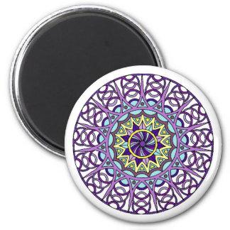 Pastel Celtic Knots Round Magnet