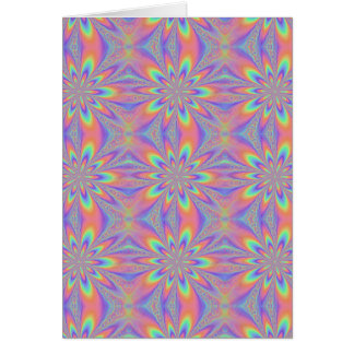 Pastel Chains Pattern Greeting Card