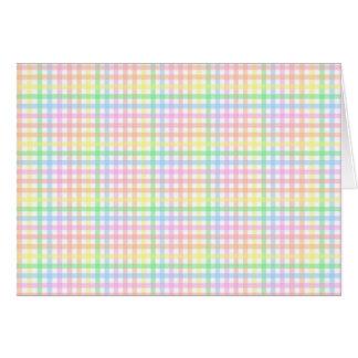Pastel Checkerboard Greeting Card