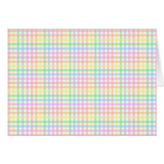 Pastel Checkerboard Greeting Card