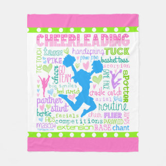Pastel Cheerleading Words Typography Fleece Blanket