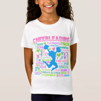 Pastel Cheerleading Words Typography T-Shirt