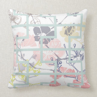 Pastel cherry blossom cushion