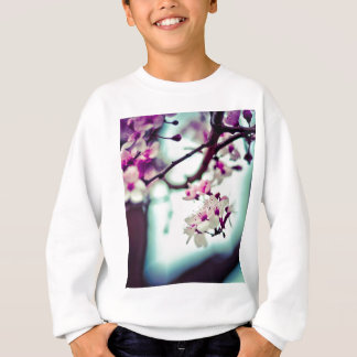 Pastel cherry blossom photo sweatshirt