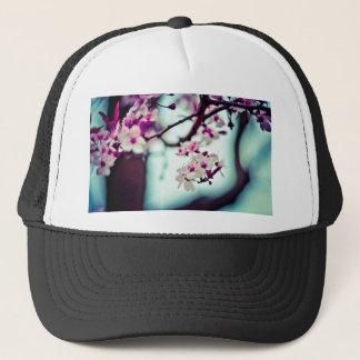 Pastel cherry blossom photo trucker hat