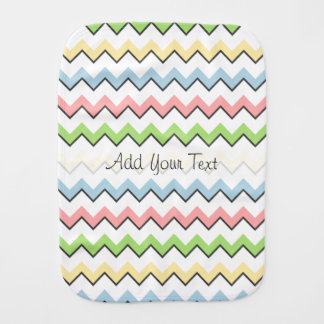 Pastel Chevron-Drop Shadow by Shirley Taylor Burp Cloths