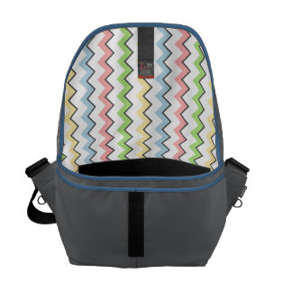 Pastel Chevron-Drop Shadow by Shirley Taylor Courier Bag