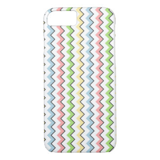 Pastel Chevron-Drop Shadow by Shirley Taylor iPhone 8/7 Case