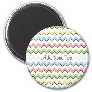 Pastel Chevron-Drop Shadow by Shirley Taylor Magnet