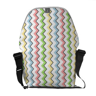 Pastel Chevron-Drop Shadow by Shirley Taylor Messenger Bags