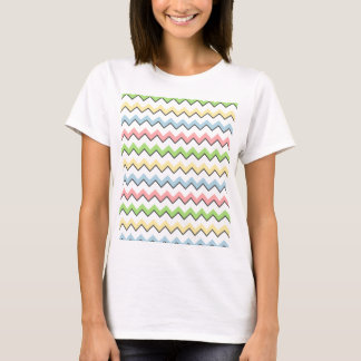 Pastel Chevron-Drop Shadow by Shirley Taylor T-Shirt